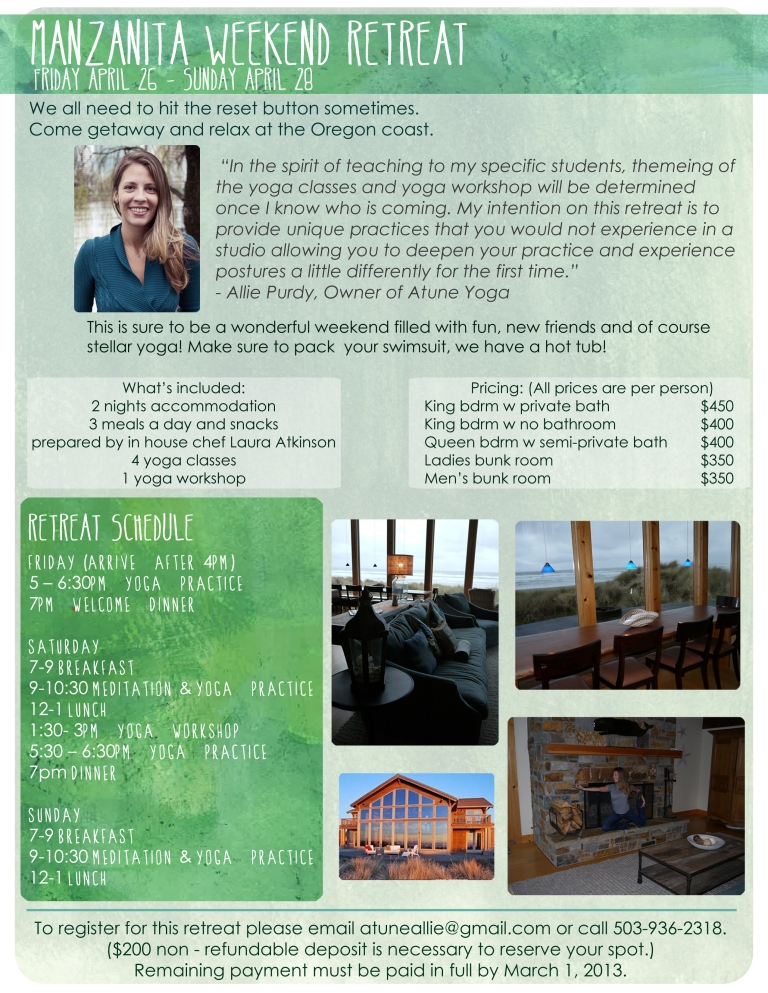 Manzanita Retreat Flyer
